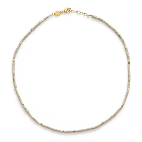Sun Stalker Necklace, Creme