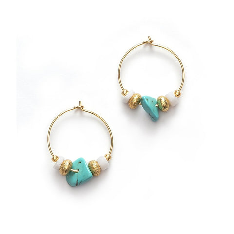 Sweet Little Things Hoops (pair), Lagoon