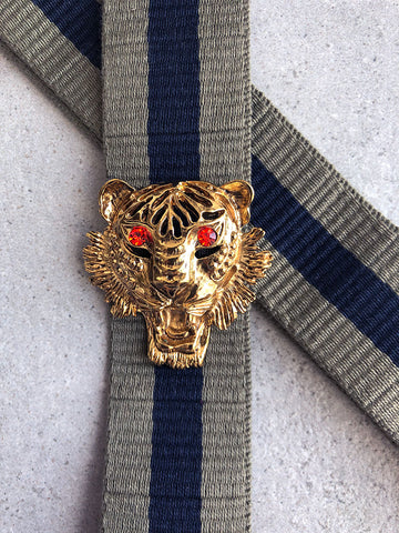 Strap 40 Tiger Gold/Orange, Military/Blue