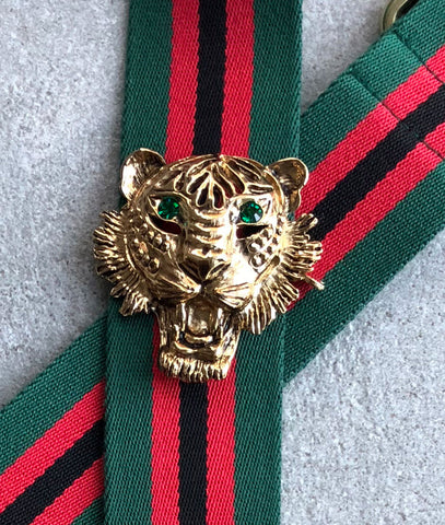 Strap 40 Tiger Gold/Green, Green/Red/Black