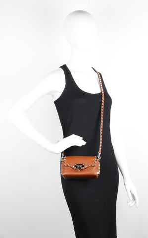 Mini Cross Body Bag, Cognac