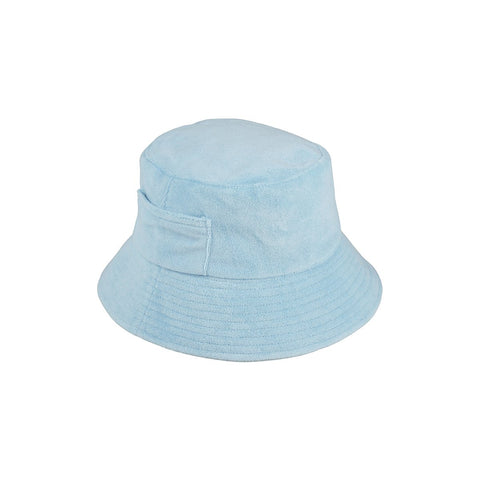 Wave Bucket Hat, Aqua Terry