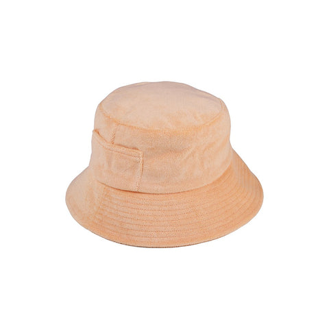 Wave Bucket Hat, Peach Terry