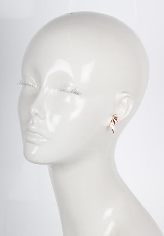 Wing Earring, High Polished Rose Gold