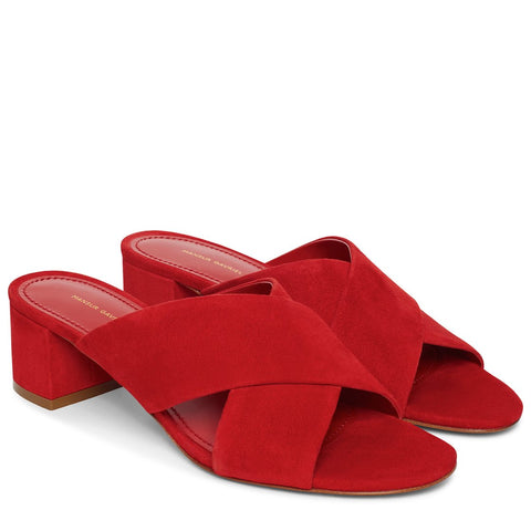 Crossover Sandal 40 Suede, Flamma