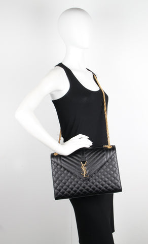 3 Mix Satchel Large, Black/Gold