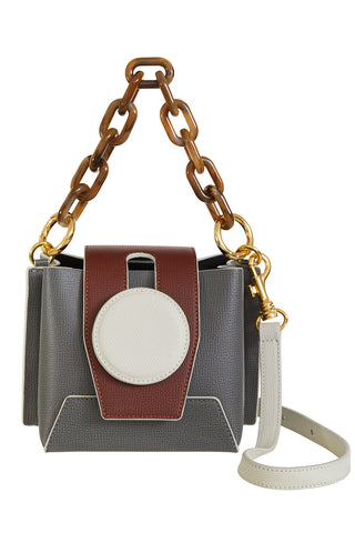 Daria Bucket Bag, Ash/Cream
