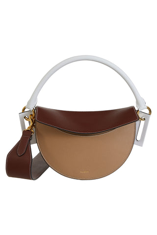 Dip Top Handle Bag, Cappucino/Auburn