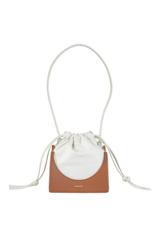 Pouchy Top Handle Bag, Cinnamon/Cream