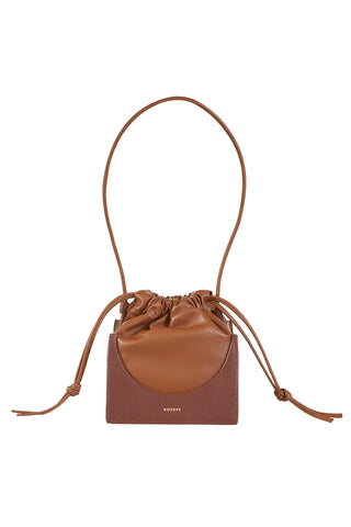 Pouchy Top Handle Bag, Cinnamon/Auburn