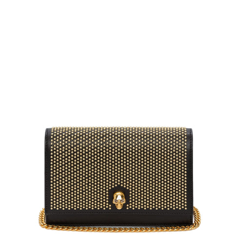 Skull Mini Bag Studded, Black/Gold
