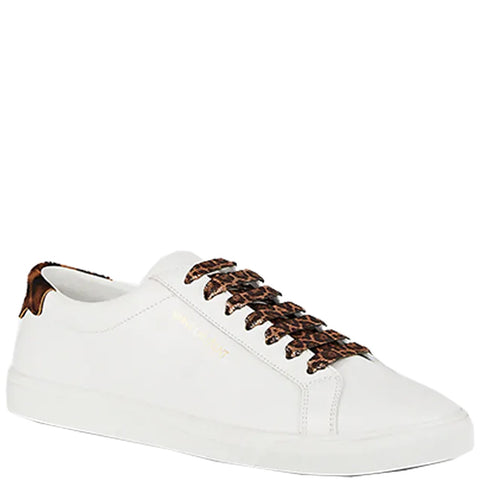 Andy Pony Leopard Sneakers, White/Leopard