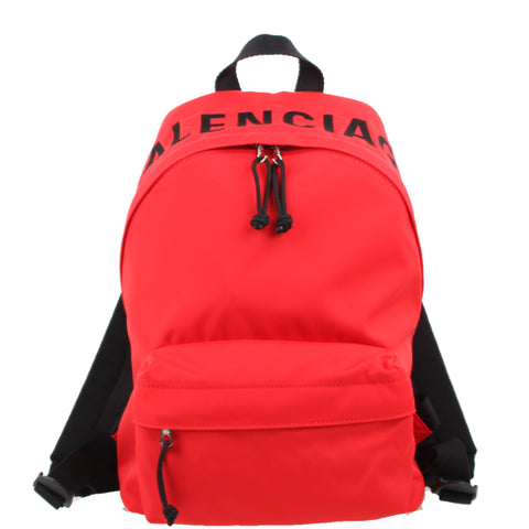 Wheel Backpack S Nylon, Red/Black