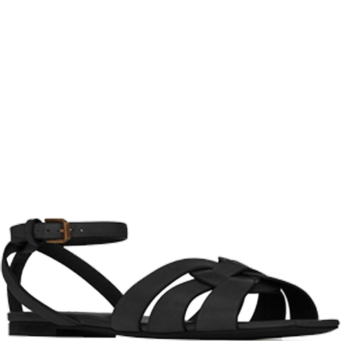 Nu Pieds Sandal with ankle strap, Black