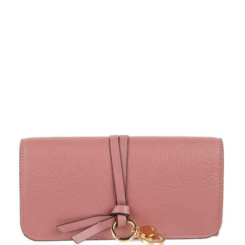 Alphabet Flap Wallet, Rusty Pink