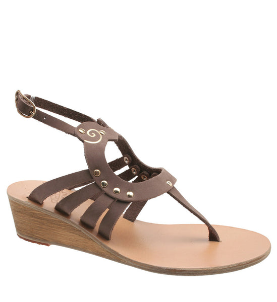 Amalthia Wedge, Dusty Brown by Ancient Greek Sandals