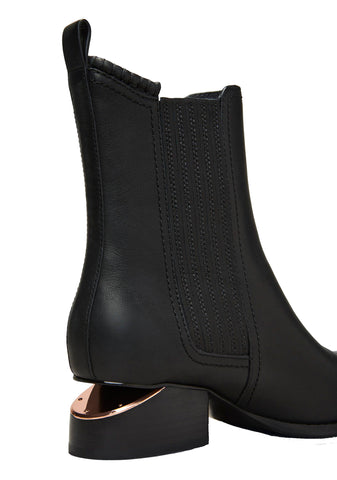Anouck Boots 40, Black/Rose Gold