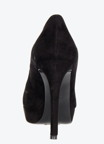 Armadillo Suede Pump 80, Black