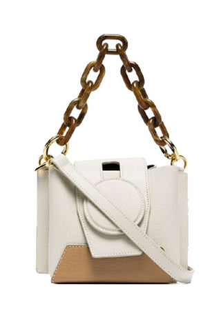 Daria Bucket Bag, Cream/Cappuccino