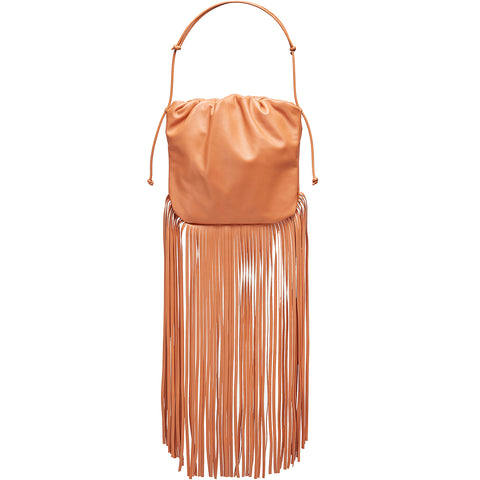 The Fringe Pouch Tote, Clay