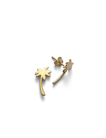 Palm Tree Studs (pair), Gold