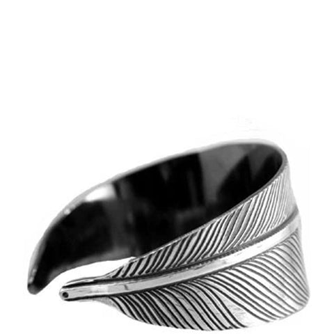 Shaded Feather Cuff, Silver