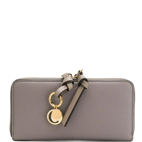 Alphabet Long Zip Wallet, Cashmere Grey