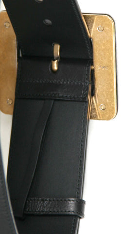Donna Belt, Smooth Black Leather