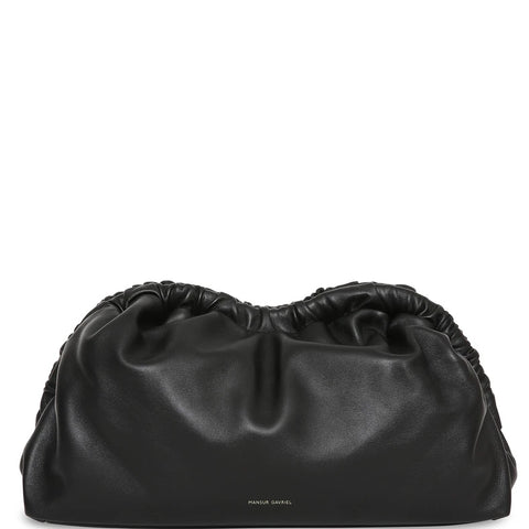 Cloud Clutch Lambskin, Black/Flame