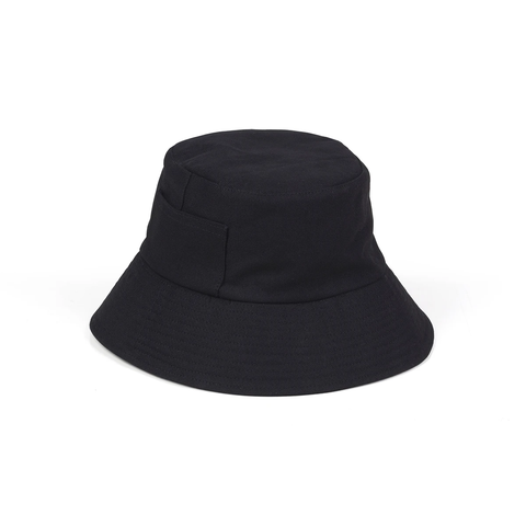 Wave Bucket Hat, Black