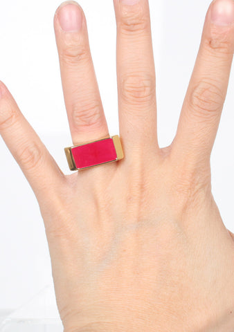 Colour Block Ring, Pink