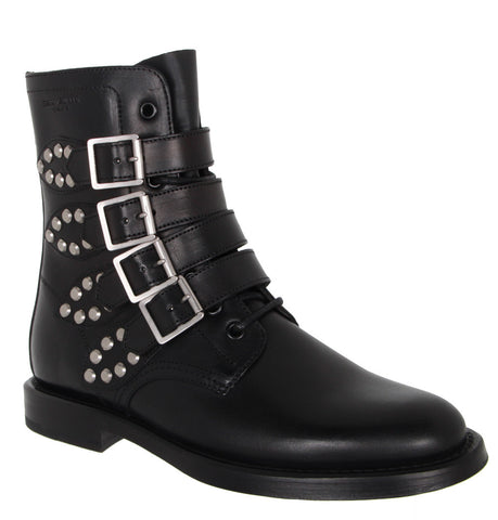 Multi Buckle Ranger Boots, Black
