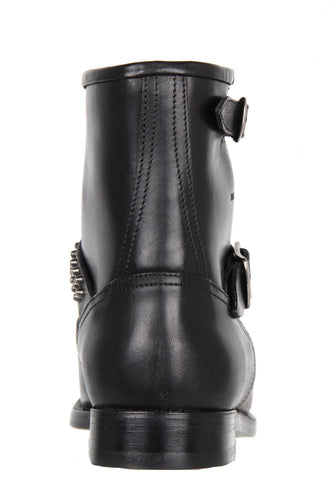 Motorcycle Boots with studs, Black