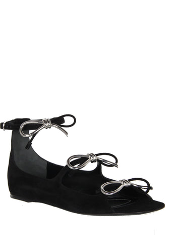 Metal Bow Flats, Black