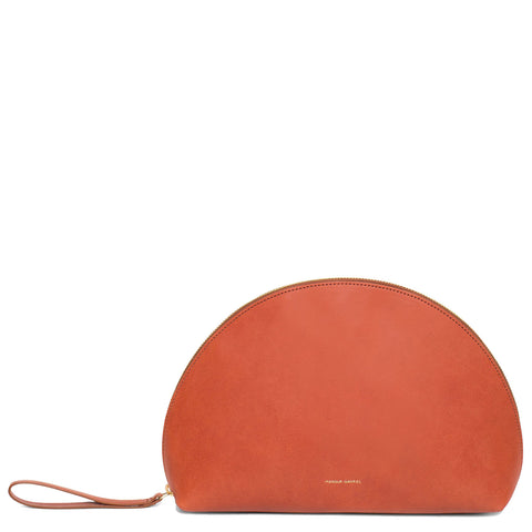Moon Clutch Mini Wristlet Vegetable Tanned, Brandy