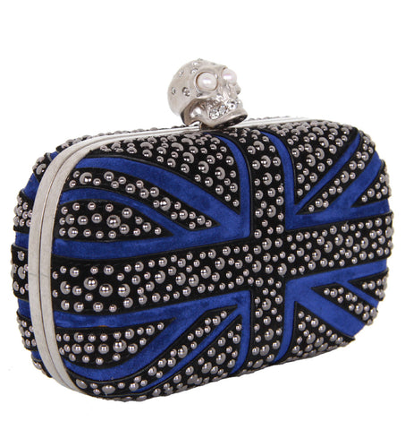 Brittania Studded Box Clutch