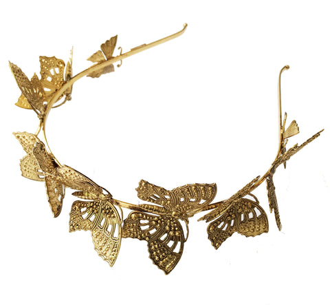 Monarch Headband, Antique Gold