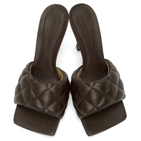 Padded Mule 90, Chocolate