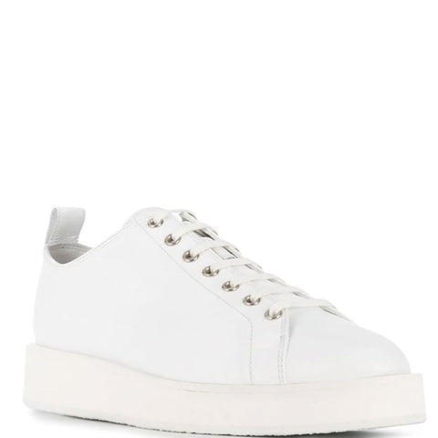 Clean Sole Lamb Trainer, White