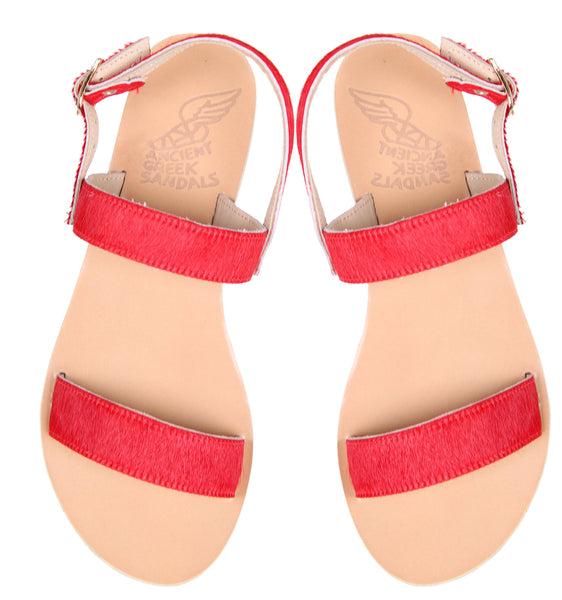 Clio Pony, Red by Ancient Greek Sandals Cultstatus