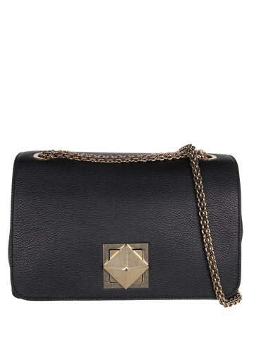Le Clou Medium Flap Bag, Black