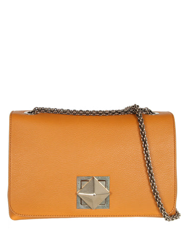 Le Clou Medium Flap Bag, Mustard