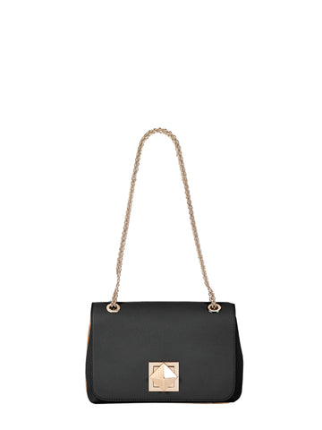 Le Clou Small Flap Bag, Black