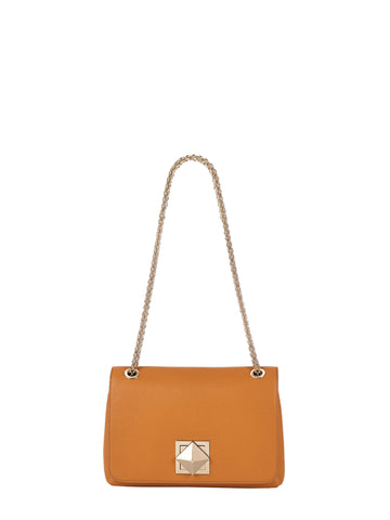 Le Clou Small Flap Bag, Mustard