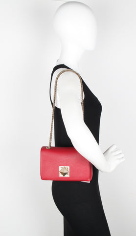 Le Clou Small Flap Bag, Lipstick