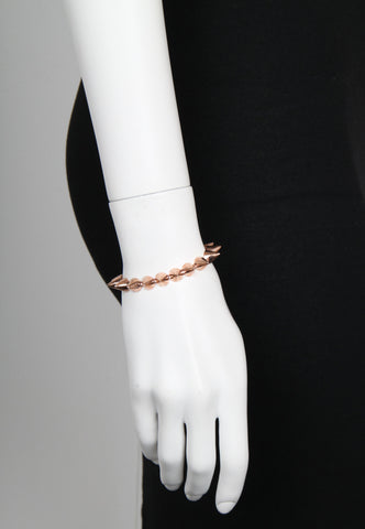 Small Stirling Silver Cone Bracelet, Rose Gold