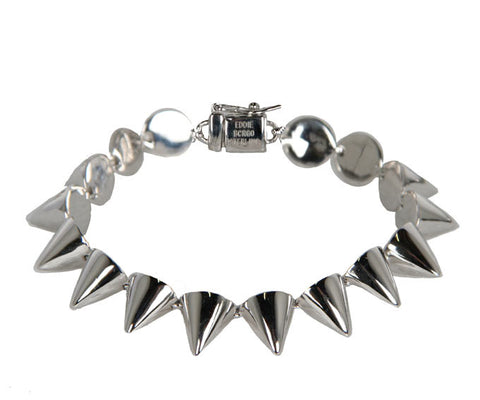 Small Stirling Silver Cone Bracelet, Silver