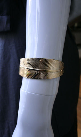 Shaded Feather Cuff, Bronze
