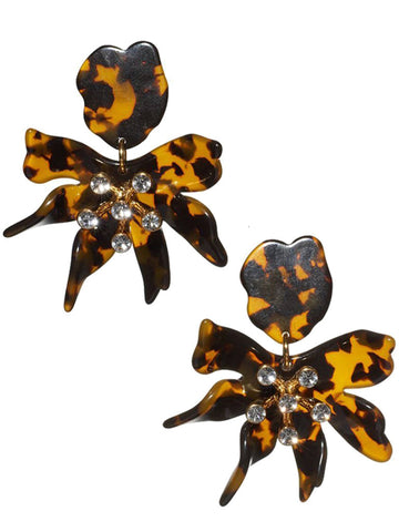 Daffodil Earrings, Tortoise