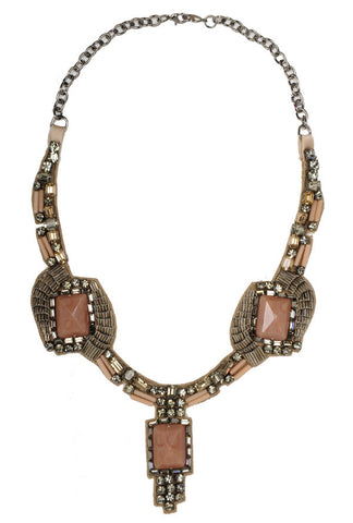 Deco Necklace, Dusty Pink